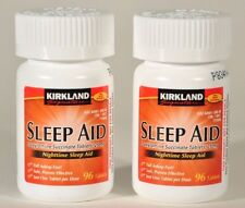 192 Kirkland Sleep Aid Doxylamine Succinate 25mg Tablets Sleeping Pills 2 bottle
