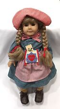 """Retired American Girl 18"""" Doll Kirsten Pleasant Company In Meet Outfit"""