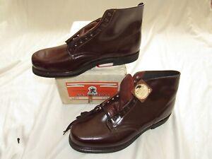 Vtg NOS Bronson Shoe Co. 70s 80s Ankle Work Dress Boots 11.5 C Moc Toe Leather