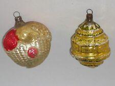 German Antique Figural Fruit Basket Christmas Ornament Vintage Decoration 1930's