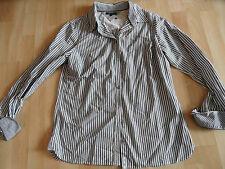 TOMMY HILFIGER schöne gestreifte Bluse khaki weiß Gr. 10 NEUw.  1115