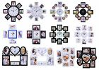 MULTI PHOTOFRAME FAMILY CLOCK FRAMES COLLAGE PICTURE APERTURE WALL PHOTO FRAME