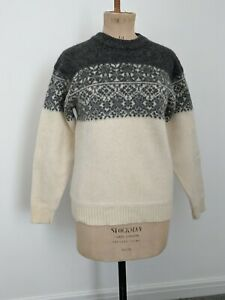 VINTAGE THICK WOOL NORDIC STYLE FAIRISLE SWEATER JUMPER SIZE M