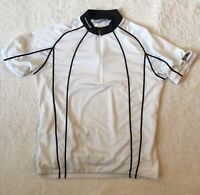 Sugoi S/M Cycling Jersey 1/2 Zip Short Sleeve White Pockets In Back