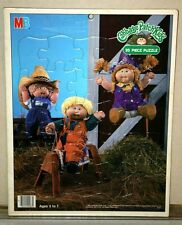 Vintage Cabbage Patch Kids 25 Piece Frame Tray Puzzle - Western Farm 1984 CPK