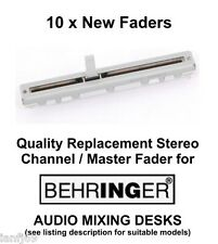 10 x BEHRINGER audio mixer desk replacement fader / slider stereo spare part