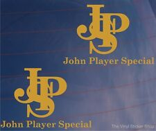 Set of Two JPS JOHN PLAYER SPECIAL F1/Formula One Livery Car/Window Stickers