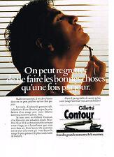 PUBLICITE ADVERTISING  1985   GILLETTE CONTOUR 1