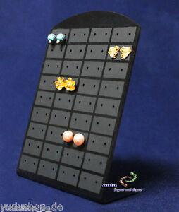 Ohrsteckerdisplay Ohrringhalter für 72 Ohrringe schwarz