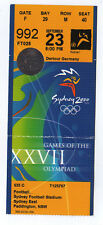 ORIG. biglietto Olimpiadi Sydney 2000 Italia-Spagna 1/4 finale!!!