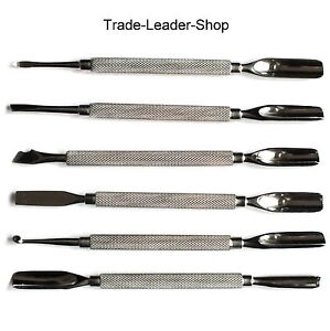 TL 6er Set Gouge Professsionnel Pusher Cure-Ongles Repousse Peau Kit NATRA Inox