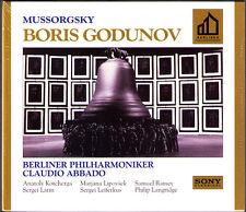 MUSSORGSKY: BORIS GODUNOV Claudio ABBADO 3CD Kotcherga Ramey Leiferkus Lipovsek