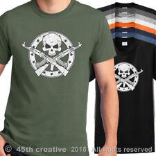AK-47 T-Shirt ak47 skull t shirt ak 47 crossbones shirt assault rifle tee shirt