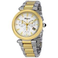 Ferragamo Idillio Silver Dial Mens Two Tone Watch FCP040017