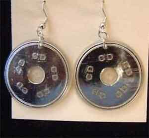 Funky CD EARRINGS DJ Punk Music Rock Band Kitsch Party Novelty Costume Jewelry