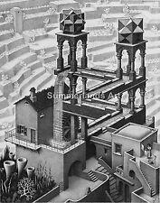 MC Escher 'The  Waterfall' - FINE ART PRINT Escher Surreal Art High Quality