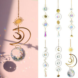 Pendant Clear Crystal Prism Ball Hanging Rainbow Suncatcher House Outdoor Decors