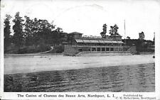 The Casino Chateaux Beaux Arts Northport LI NY postcard postally used in 1912