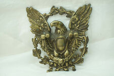 Vintage Brass Door Knocker American Eagle Federal Shield Hardware 8 x 7.5in