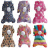 Pet Dog's Soft Plush Pet Clothes Warm Fleece Winter Jumpsuit Pajamas Hoodie Coat