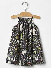 GAP Baby Girl 0-3 Months NWT Dark Gray Jungle / Safari / Animal Sleeveless Dress