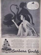 PUBLICITÉ 1955 PRODUITS DE BEAUTÉ BARBARA GOULD CRÈME COMPLEXION - ADVERTISING