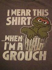 Sesame Street Grouch When I'm Grouchy Mondays Couple Gift TV Show T Shirt L