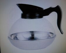 COFFEE DECANTERS PLASTIC W/STAINLESS STEEL BASE 64 OZ  BLACK