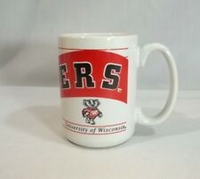 Wisconsin Badgers Coffee Cup Mug White Large Bucky