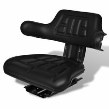 vidaXL Tractor Seat with Backrest Black Arm Rest Waterproof Forklift Replace