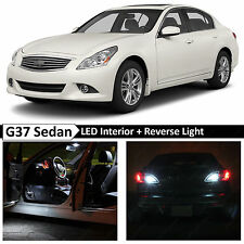 15x White Interior + Reverse LED Light Package 2007-2014 G35 G37 Sedan