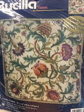 Stunning Rare Bucilla Crewel Embroidery Kit Classic Floral Jacobean Sealed Rossi