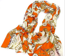 Hot Fashion Lady Girls Carriage Long Soft Chiffon Scarf Wrap Shawl Stole Scarves