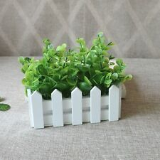 Green Artificial Small Leaves Plant Eucalyptus Grass Pot Home Party Decoration