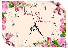 horloge fête des mères bonne fête maman réf FM19 personnalisable