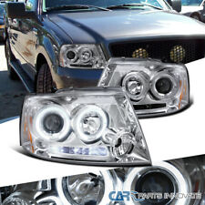 Ford 04-08 F150 Lincoln 06-08 Mark LT LED Halo Clear Projector Headlights Lamps