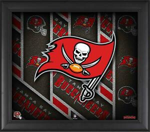 """Tampa Bay Buccaneers Framed 15"""" x 17"""" Team Threads Collage"""