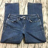 ee8ca0da653 Duluth Trading Womens Jeans Sz 12 X 31 (33W 30L) Blue Denim Stretch