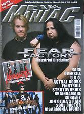 METAL MANIAC 2 2010 Fear Factory Rage Finntroll Overkill Helloween Necrodeath