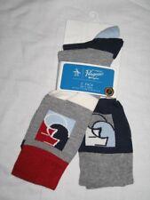 BNWT ORIGINAL PENGUIN 55 Logo  Socks  Grey Navy Blue   2 Pairs