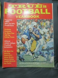 VINTAGE 1965 TRUE'S FOOTBALL MAGAZINE BALTIMORE/INDIANAPOLIS COLTS