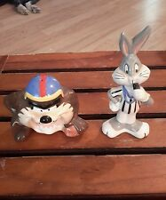 1993 Warner Brothers Taz and Bugs Bunny Salt and Pepper Shakers