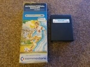 Commodore 64 C64 International Soccer Boxed Cartridge tested see pics