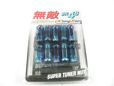 Muteki SR48 Extended Open Ended Wheel Tuner Lug Nuts Burned Blue Neon 12x1.5mm