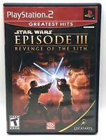 Star Wars: Episode III: Revenge of the Sith PlayStation 2 (PS2) TESTED COMPLETE