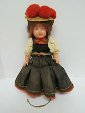 "Schildkrot turtle mark Germany traditional dress 11"" hard plastic."