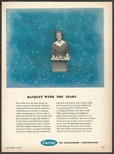 CARRIER Air Conditioning,Refrigeration-BANQUET WITH THE STARS Vintage Print Ad