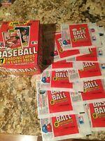 1981 Fleer Baseball TRADING CARD WAX PACK WRAPPER Lot of 20