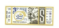 1970 ticket to the 3rd annual Peach Bowl, Atlanta