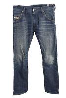Vintage Diesel Krooley High Waist Unisex Denim Jeans W33 L33 Mid Blue - J4624